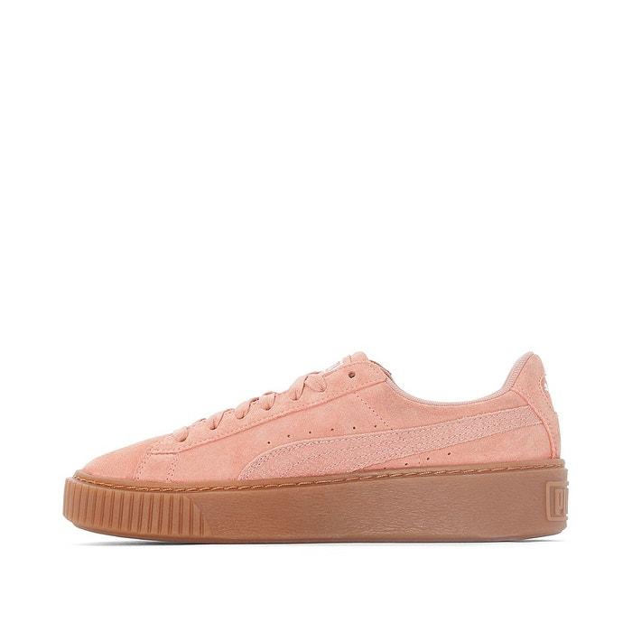 Baskets Puma Compensées Platform Core Gum Rose Femme En Soldes :