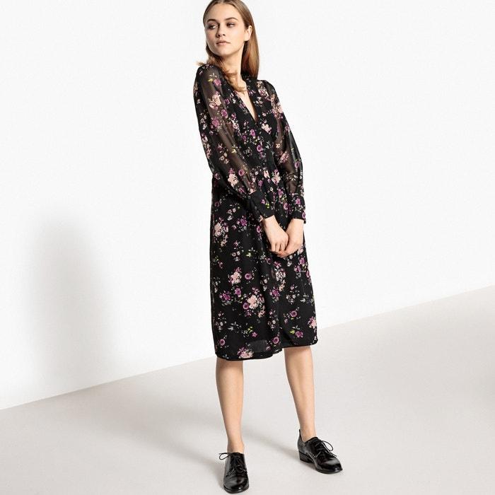 Mesh Floral Print Dress  MADEMOISELLE R image 0