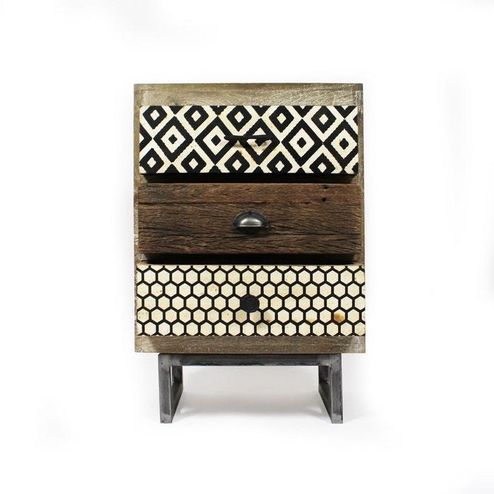 gallery of chevet industriel patchwork bimatire faades. Black Bedroom Furniture Sets. Home Design Ideas