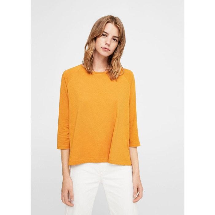 T-shirt basique en coton MANGO
