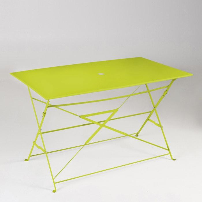 afbeelding Plooibare tafel in metaal, rechthoekigl La Redoute Interieurs