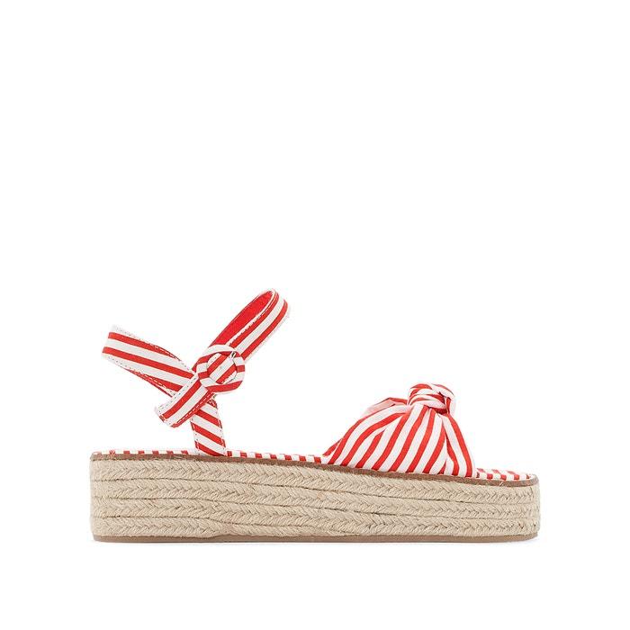 Sandales compensées, toile et corde, Bambi  COOLWAY image 0