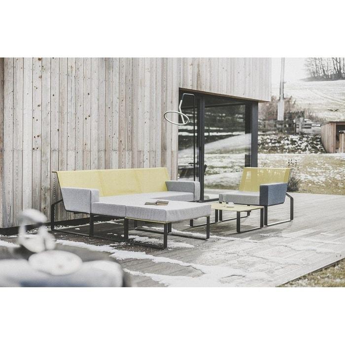 Salon de jardin complet design MOJA EGOE tissu gris
