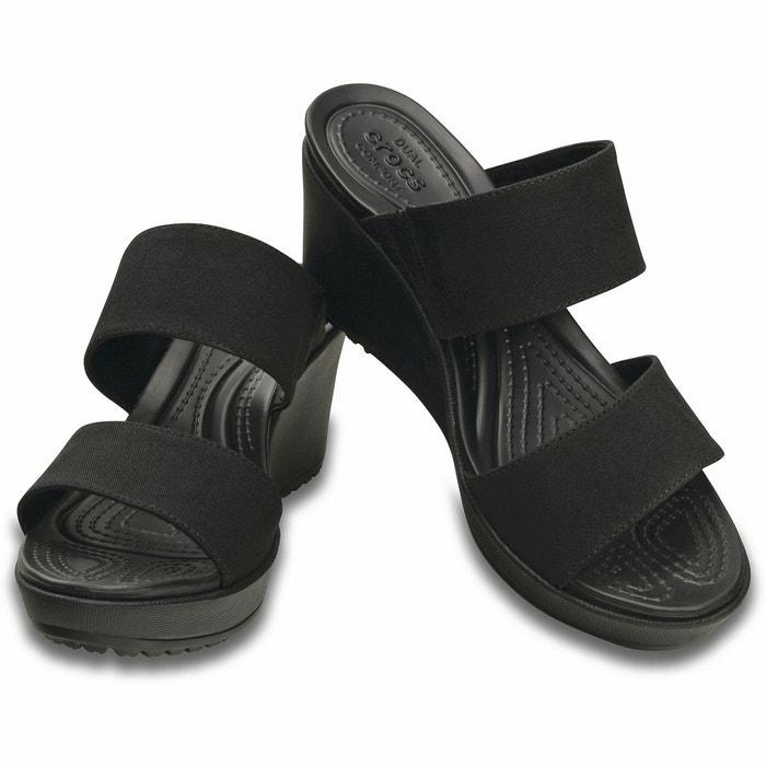 Sandales compensées leigh ii 2 noir Crocs