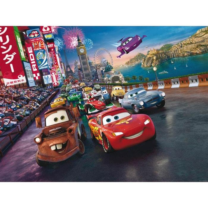 Papier Peint Xxl Cars Disney H 255 Cm L 360 Cm Rouge Walltastic La