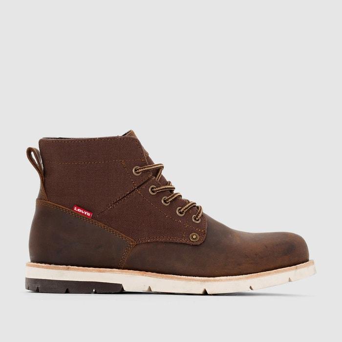 Boots cuir jax  marron foncé Levi's  La Redoute
