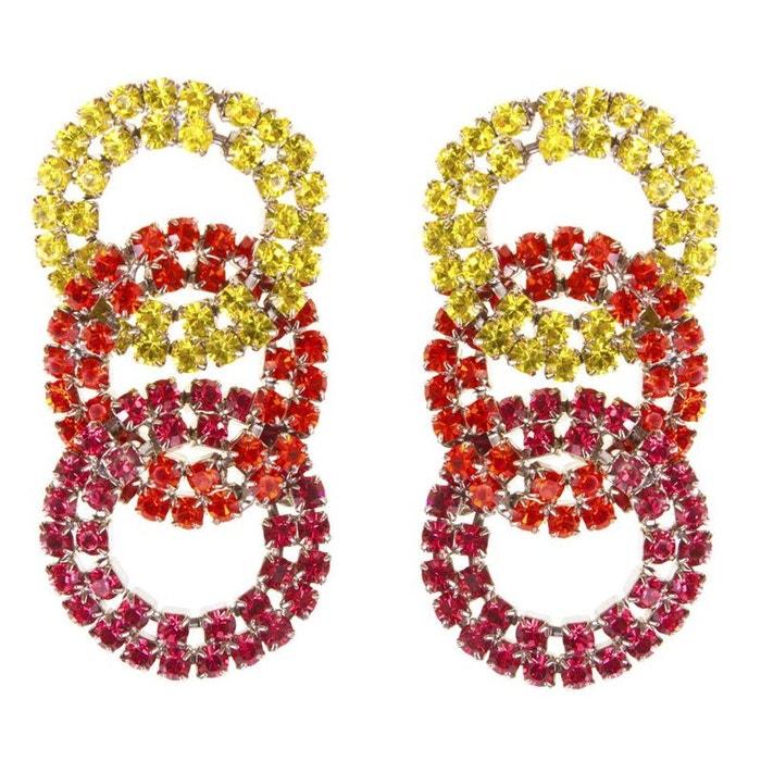 Boucles d'oreilles gladys orange couleur unique Reine Rosalie | La Redoute Moins Cher Vente Style De Mode En Ligne nbmgGW
