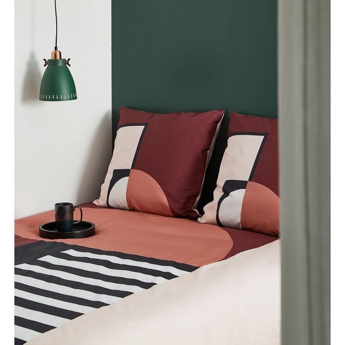 parure de lit rubis housse de couette et 2 taies coton 80. Black Bedroom Furniture Sets. Home Design Ideas