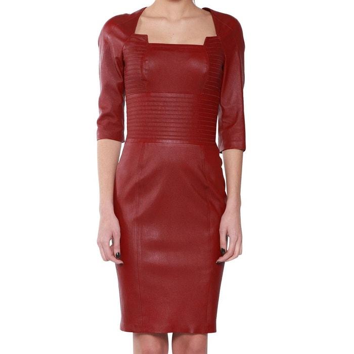 robe cuir femme pellessimo espiegle rouge pellessimo la redoute. Black Bedroom Furniture Sets. Home Design Ideas