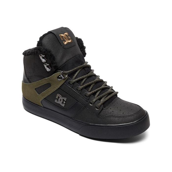 Chaussures spartan high black olive noir Dc Shoes