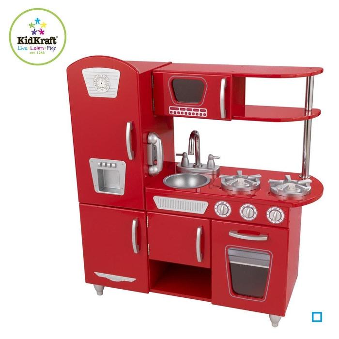 Cuisine Vintage Rouge Kid53173 Kidkraft La Redoute