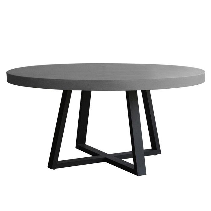 table ronde mahuru 140 cm gris rendez vous deco la redoute. Black Bedroom Furniture Sets. Home Design Ideas