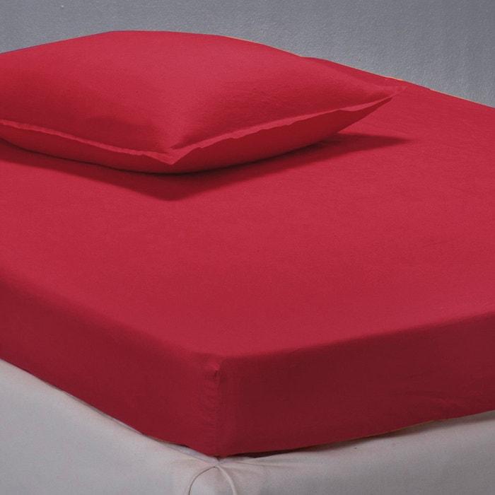 drap housse en pur lin lav la redoute interieurs rouge la redoute. Black Bedroom Furniture Sets. Home Design Ideas