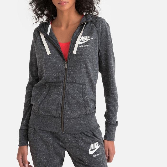 7d05f94deae3 Sweat zippé à capuche gym vintage gris anthracite Nike