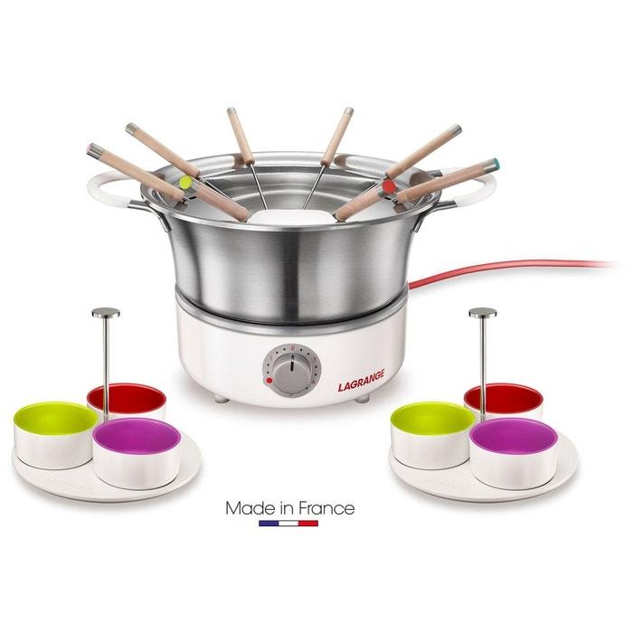 Fondue lagrange 349 304 fondue elegance couleur unique - Appareil a fondu en fonte ...