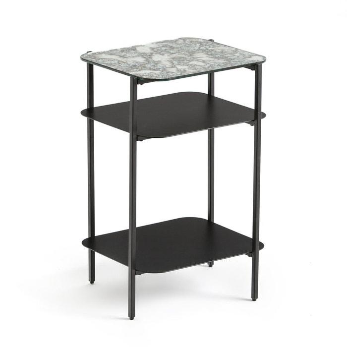 chevet 3 plateaux lipstick noir la redoute interieurs la redoute. Black Bedroom Furniture Sets. Home Design Ideas