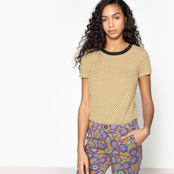 Tee-shirt jaquard jaune  La Redoute Collections image 0