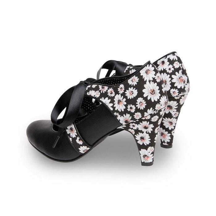 Chaussures à lacets rubans et imprimé marguerite joe browns femme noir Joe Browns