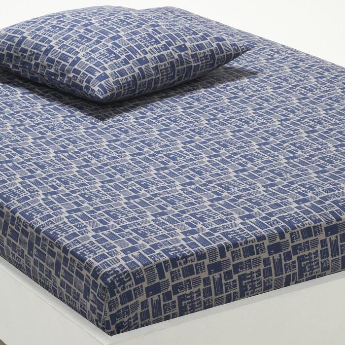 Drap housse imprim woox bleu gris la redoute interieurs - Draps housse la redoute ...