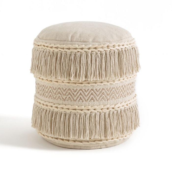 pouf recife naturel la redoute interieurs la redoute. Black Bedroom Furniture Sets. Home Design Ideas