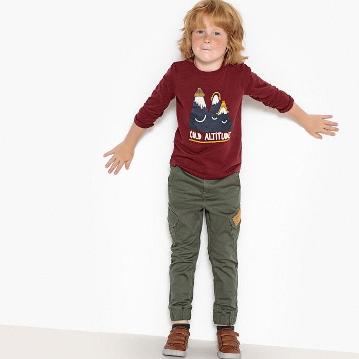 Pantalon jogger 3-12 ans La Redoute Collections vert kaki  104a4b232b02