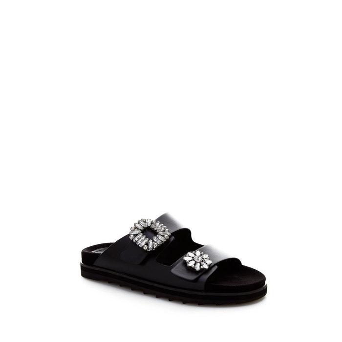 Sandales cambrie applications bijou noir Guess Mode À Vendre classique Pas Cher À Trouver Les Meilleurs hbK6Tf