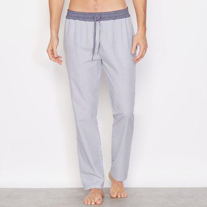 pantalon ray de pyjama bleu raye la redoute collections. Black Bedroom Furniture Sets. Home Design Ideas
