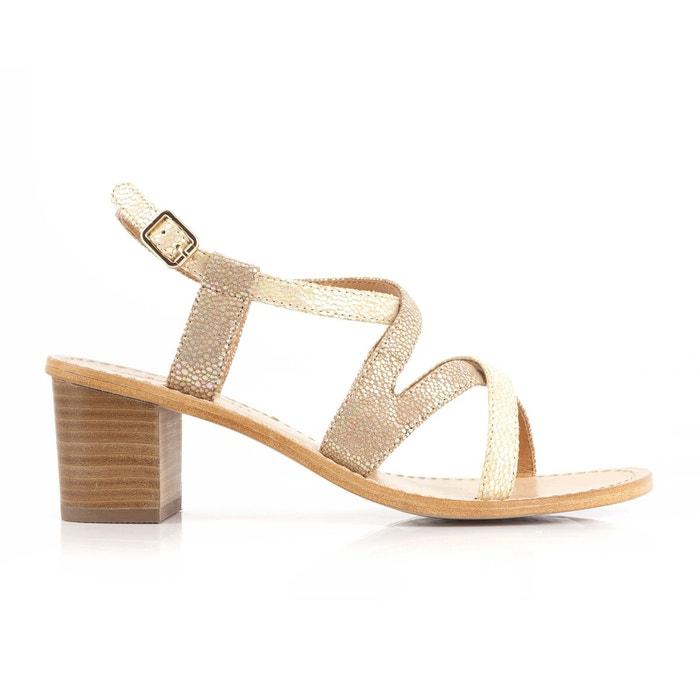 Sandales à talons, valouna taupe Mellow Yellow