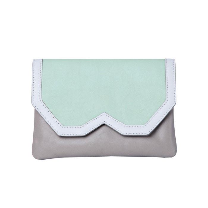 Pochette en cuir vert d'eau pastel et gris vert clair Emeline Coates | La Redoute Photos À Vendre H0trD0Ap