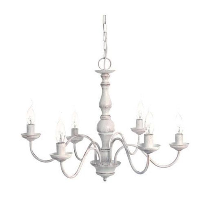charles lustre 6 branches blanc 60cm suspension sampa helios design par blanc sampa helios. Black Bedroom Furniture Sets. Home Design Ideas