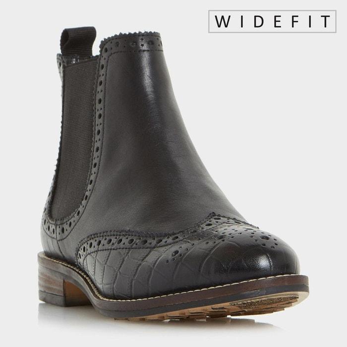 Bottines Chelsea style Richelieu pour pieds larges - W QUENTONS DUNE LONDON  (1) ...