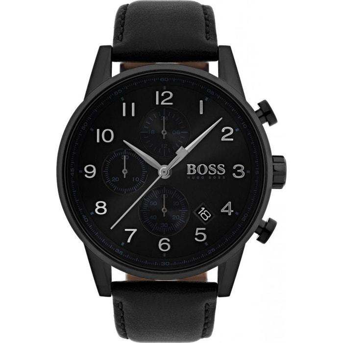 97a8fb5d438 Montre homme cuir 1513497 noir Hugo Boss