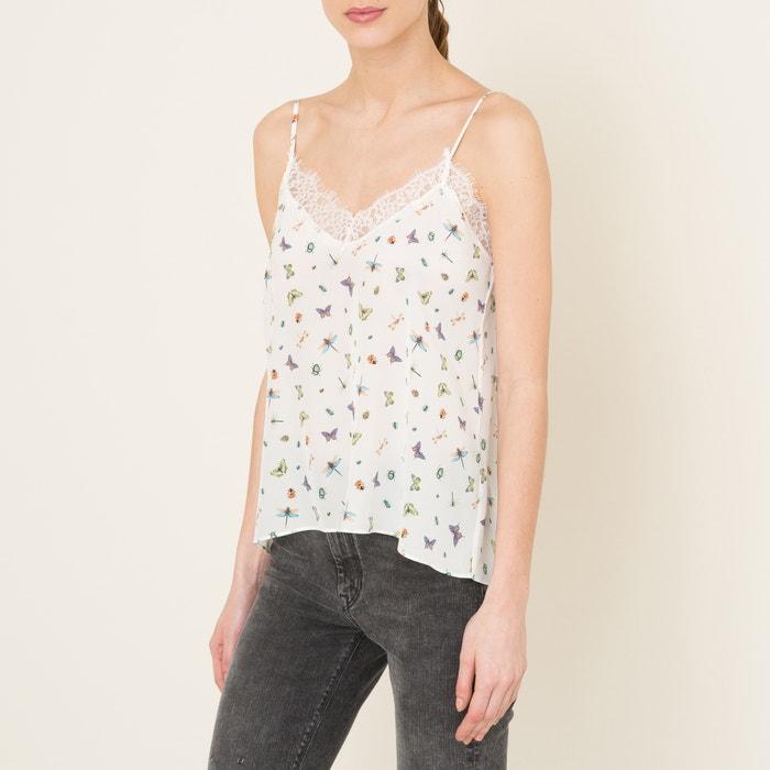 Image Printed Silk Vest Top THE KOOPLES