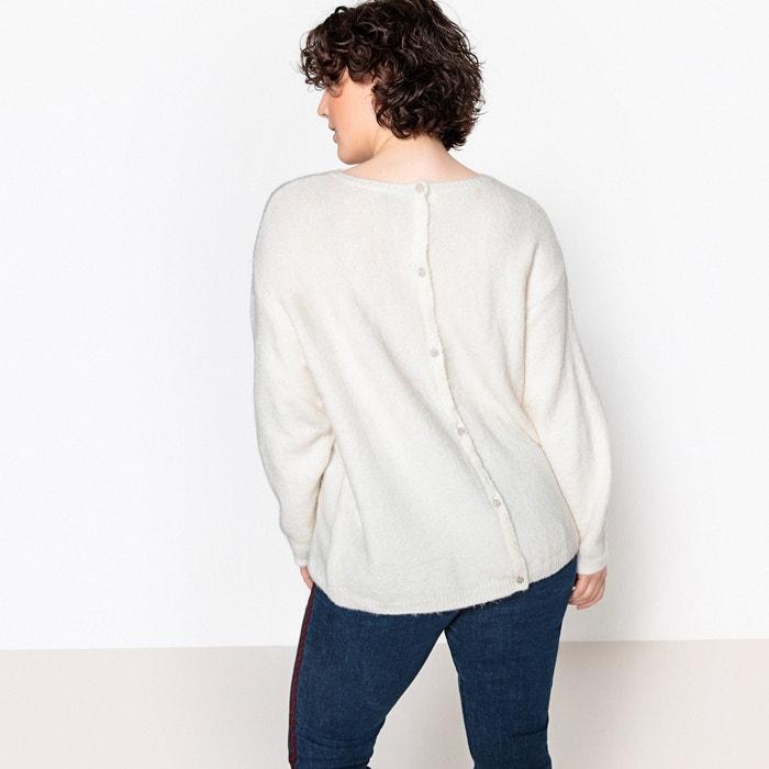 Jersey con cuello redondo y botones de bisutería detrás  CASTALUNA image 0