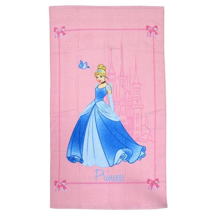 Drap De Plage 070x120 Cm Disney Princess 100 Coton Rose Disney