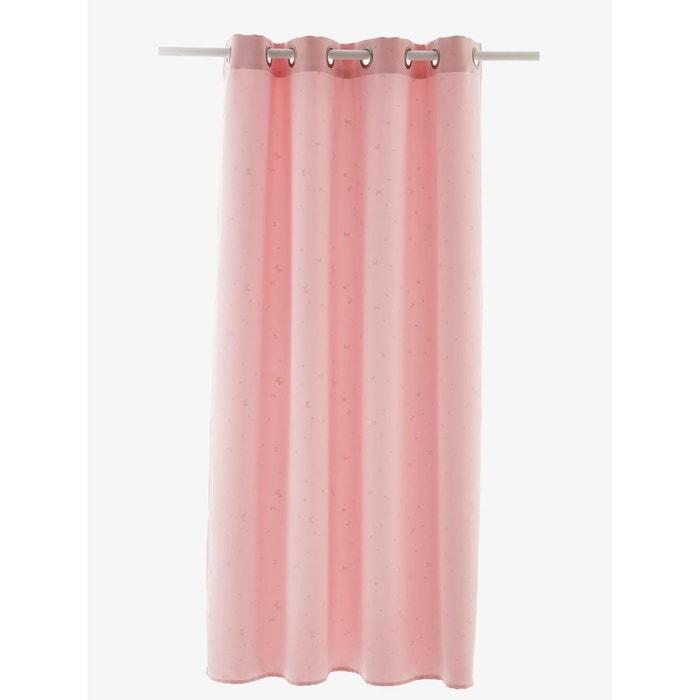 rideau occultant phosphorescent rose clair imprim vertbaudet la redoute. Black Bedroom Furniture Sets. Home Design Ideas