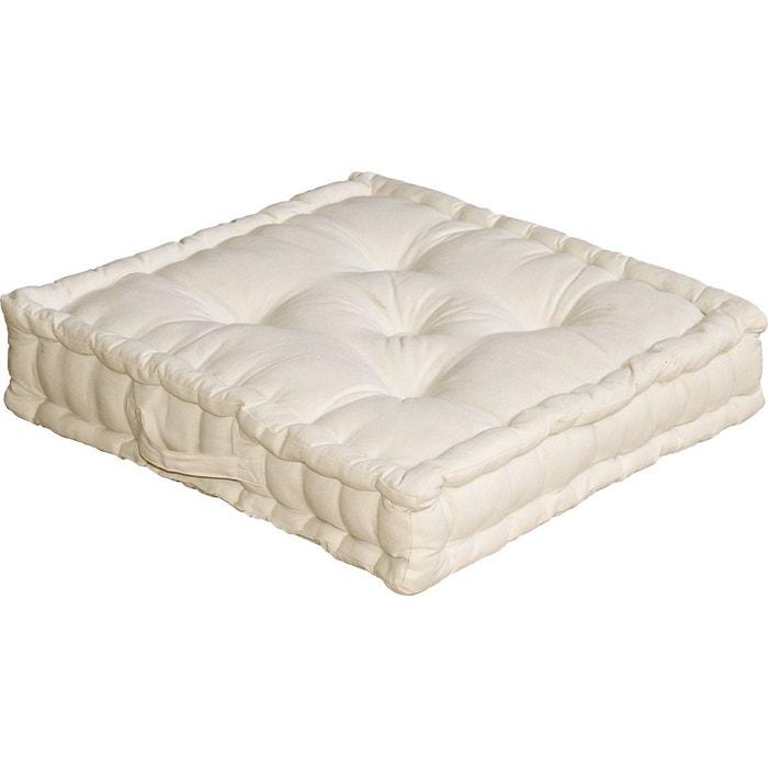 coussin de sol uni en pur coton home maison la redoute. Black Bedroom Furniture Sets. Home Design Ideas