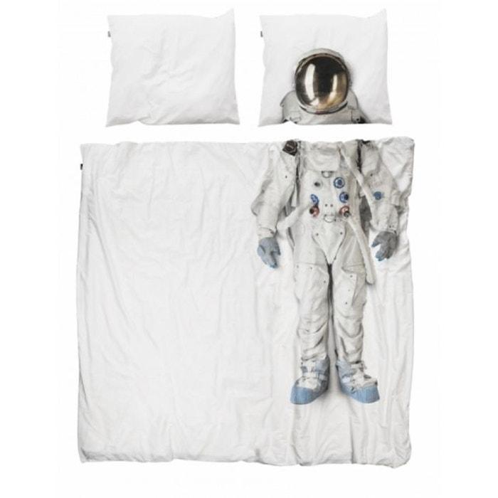 parure de lit 200x200 astronaute blanc nordic factory la. Black Bedroom Furniture Sets. Home Design Ideas