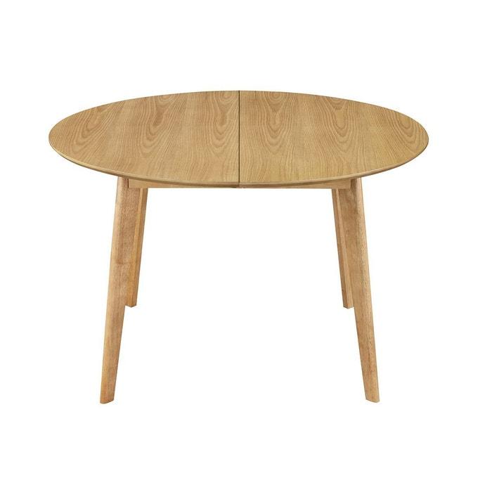 Table à manger design ronde extensible chêne l120-150 leena Miliboo ...