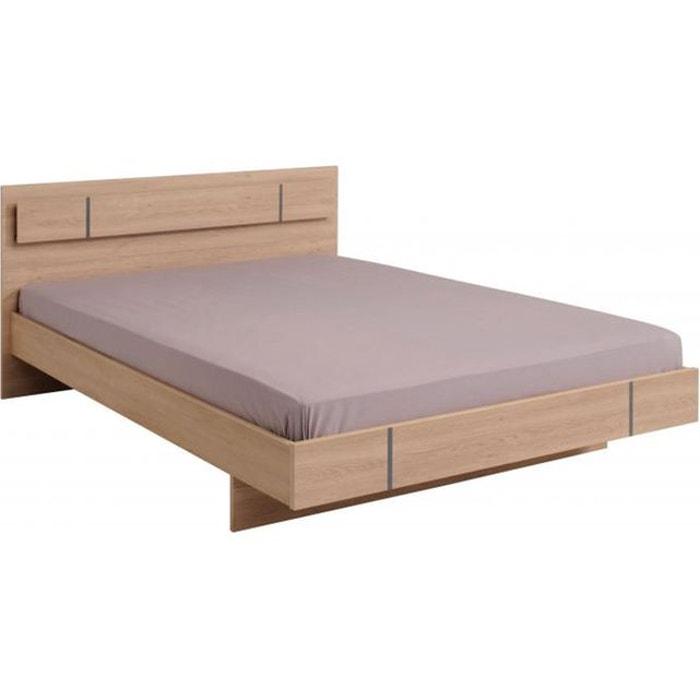 lit ch ne 160x200 jones beige declikdeco la redoute. Black Bedroom Furniture Sets. Home Design Ideas
