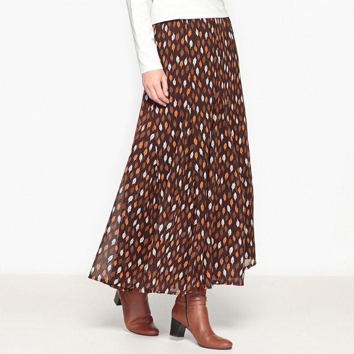 Image Longue jupe imprimé,voile froissé ANNE WEYBURN