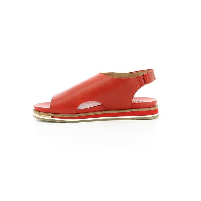 Sandales cuir femme olimpe rouge Kickers