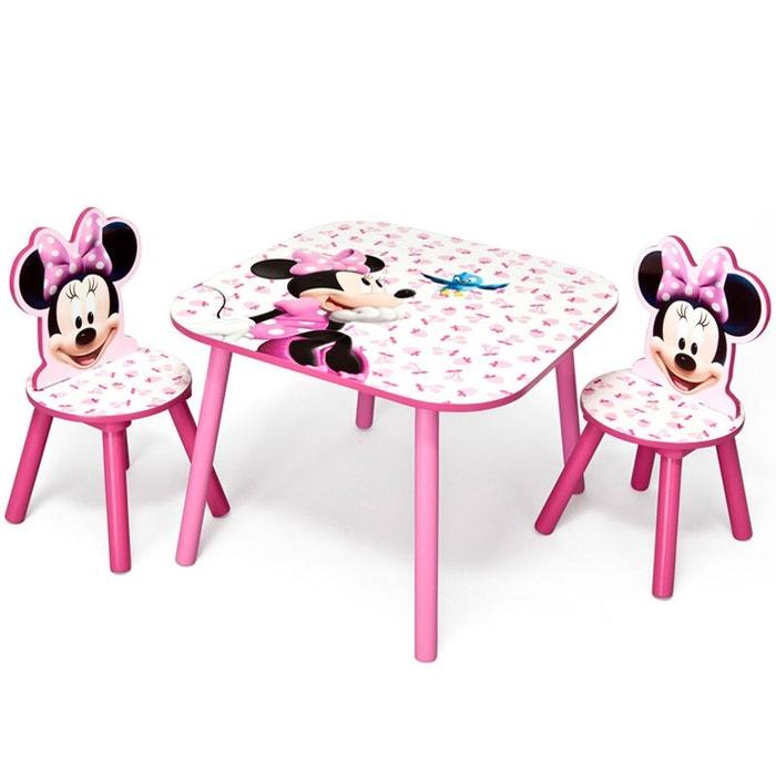 table et chaises minnie disney rose delta la redoute. Black Bedroom Furniture Sets. Home Design Ideas