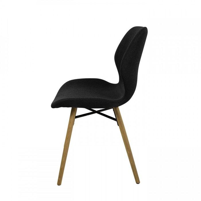 chaise en tissu et ch ne noir gary x2 zago la redoute. Black Bedroom Furniture Sets. Home Design Ideas