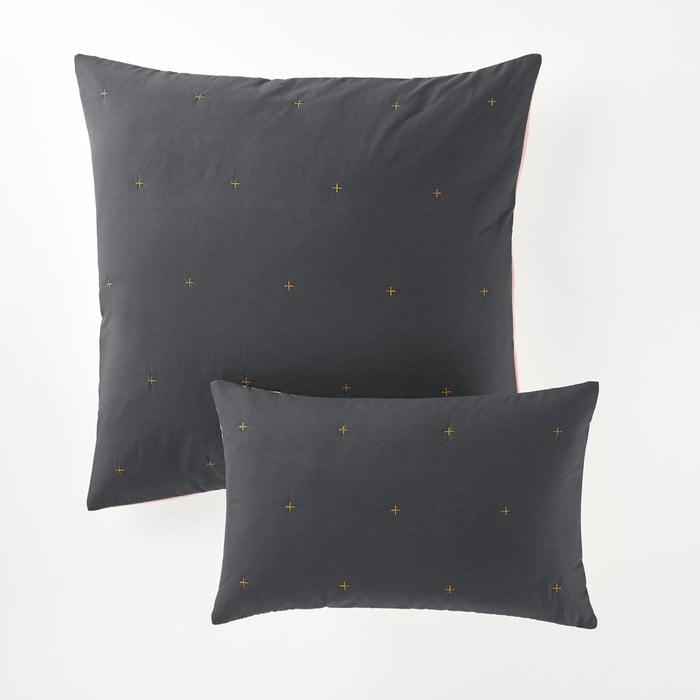 Housse de coussin ou d oreiller bicolore floki la redoute interieurs la redoute - La redoute housse de coussin ...