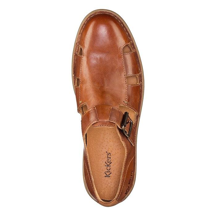 Sandales cuir vidal noir Kickers