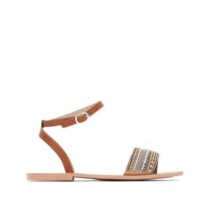 MADEMOISELLE R Sandales cuir bride perles boutique 2018 Nouvelle Vente En Ligne meilleur Livraison Gratuite En Ligne 5Vd5rnhY