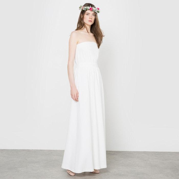 vestido de novia largo, forma corpiño marfil la redoute collections
