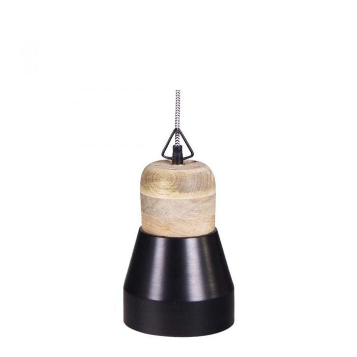 suspension luminaire bois m tal salt and pepper medium noir drawer la redoute. Black Bedroom Furniture Sets. Home Design Ideas