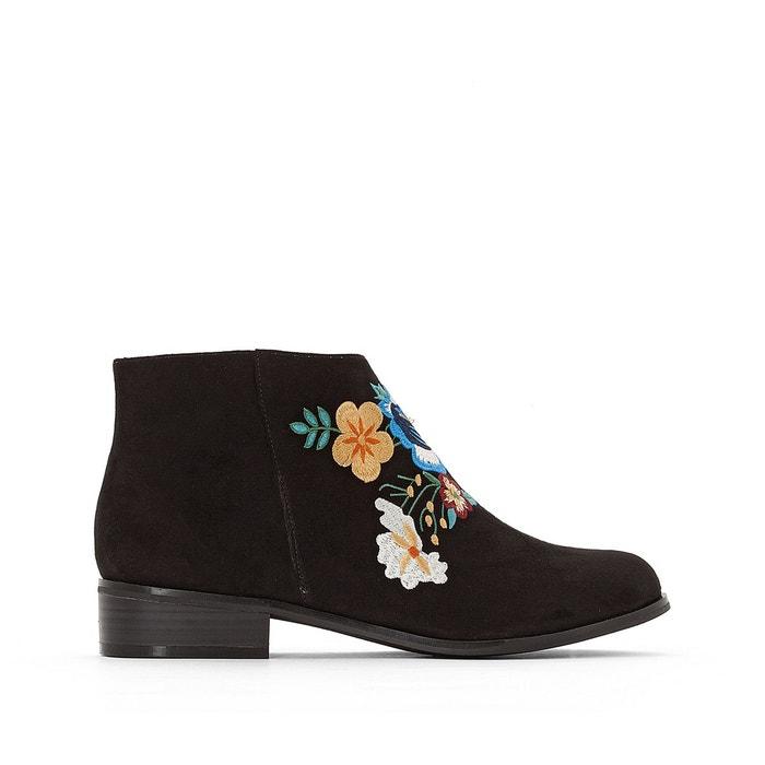 Boots brodées  noir Mademoiselle R  La Redoute